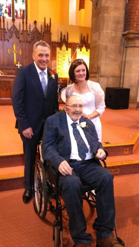 Alan with his son Andrew and new daughter-in-law Dawn