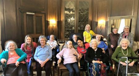 Hungerford Care Home, Berkshire - Residents, team members and members of Hungerford WI enjoyed getting together to celebrate International Women's Day