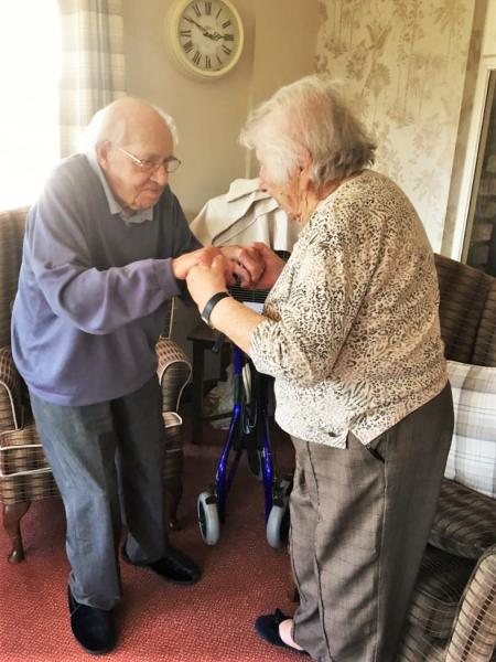 Residents at Crabwall Hall Care Home in Chester enjoy dancing on World Music Day