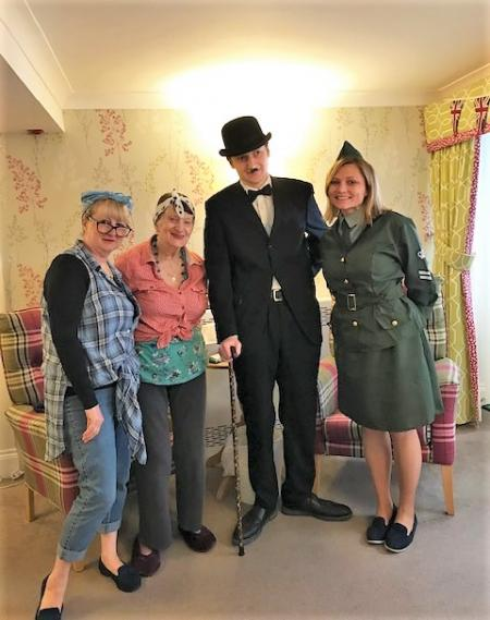Residents at Mill House Care Home in Witney celebrate VE Day