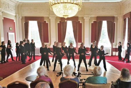 Residents at The Granby Care Home relive 'Musical Legends' with Harrogate High School