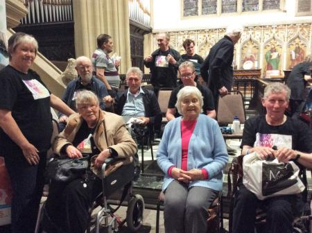Resident at Cookridge Court Care Home in Leeds attends local concert