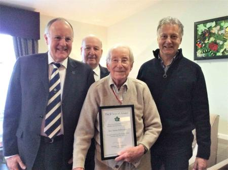 Roy's lifetime achievement award at Lawton Manor Care Home