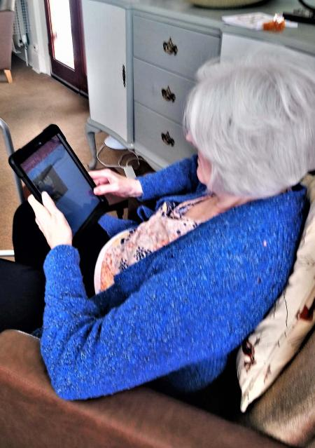 Hallhouse Care Home residents keep in touch with friends and family with our new Magic Moments Club App