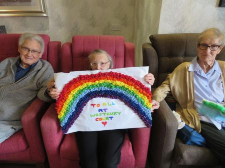 Westbury Court Care Home in Bath have a lovely surprise