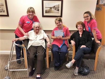 Residents at Scarborough Hall Care Home write to Hm the Queen for World Letter Writing day