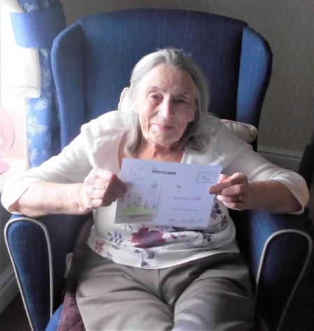 The Granby Care Home, Harrogate-The cards have put a big smile on Marjorie's face