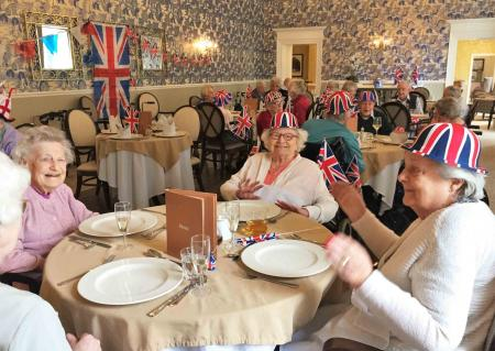Residents at The Granby Care Home in Harrogate celebrate VE day