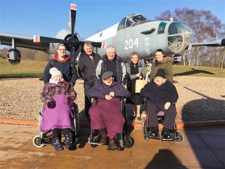 A surprise visit to the Royal Air Force Museum for Broadway Halls Care Home