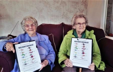 Residents at Crabwall Hall Care Home in Chester take part in brighterkind's naturewatch activities