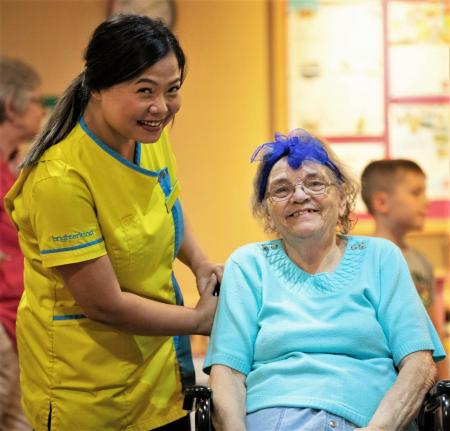 Residents at Ashbourne Court Care home in Andover hold a Festival of Friendship