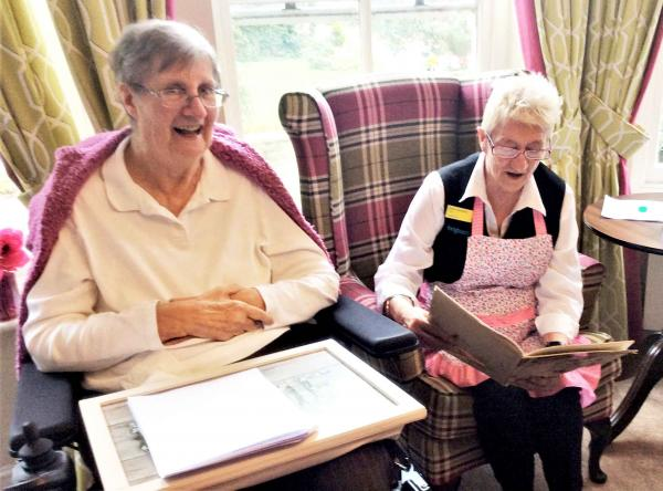 Residents at The Berkshire Care Home in Wokingham enjoy poetry reading