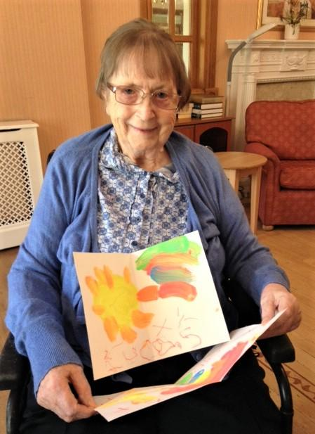 Henleigh Hall Care Home, Sheffield-Margaret enjoyed looking at all the wonderful paintings