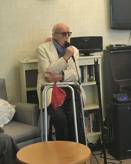 Hempton Field Care Home in Oxford get a special performance from Dave Owen who appeared on Michael Macintyre's show