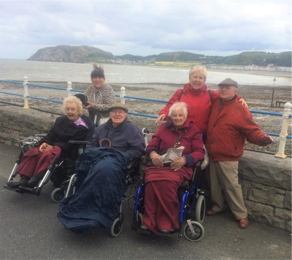 Lawton Manor Care Home, Staffordshire-Residents and team members taking in the sea air in Llandudno