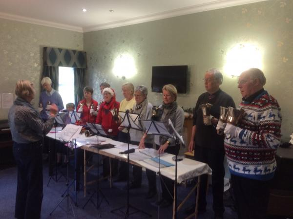 The Bedale Bell ringers entertaining us with Christmas tunes
