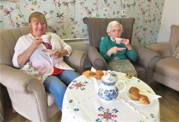 Chatty cafe launch at Westbury Court Care Home in Wiltshire