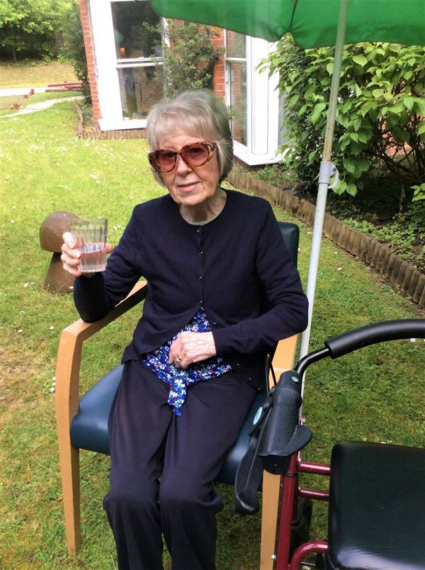 Residents at Albany Care Home in Headington celebrate summer