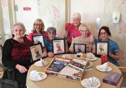 Buchanan Lodge in Bearsden enjoyed a vintage afternoon tea whilst solving a Cluedo themed mystery with each team given a different character. Residents and team members had a great day playing all the characters!