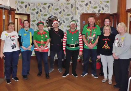 Team members at Garioch formed their own choir to entertain residents with festive carols!