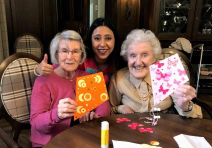 Hungerford care home residents make their own kites