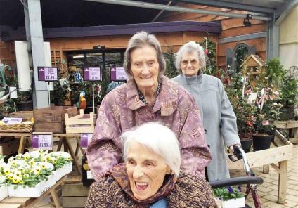 Residents Betty, Jackie and Madge enjoying the day out!