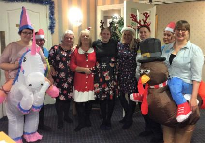 The team at Avery Mews are all dressed up for their festive 'Fancy Dun Day' to raise money for charity!