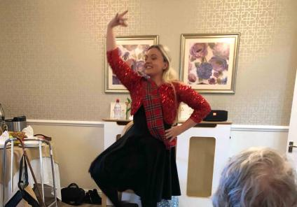 Hungerford Care Home had a wonderful Scottish themed seated dance class by Nicole from Golden Toes