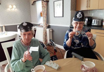 Avery Mews Care Home in Heckmondwike were tasked with solving the case of the missing manager. Residents Eva and Beryl piece together the clues over a cuppa!