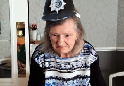 Avery Mews Care Home in Heckmondwike were tasked with solving the case of the missing manager. Resident Irene plays the bad cop!