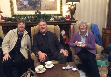 The Cedars in Salisbury have a festive visit from members of resident Molly's church congregation