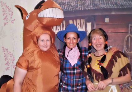 3 amigos: Home Manager Debbie Clark, Deputy Home Manager Wendy Ignatiuk and Nurse Jackie McLeod