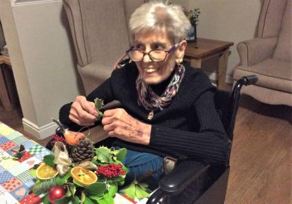 Resident Joyce used to be an international florist and loved doing it again!