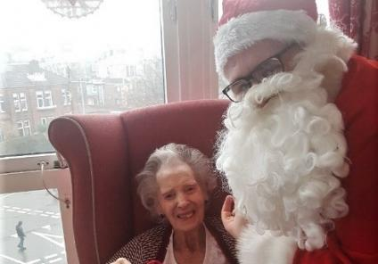 Clarence Court had a special visit from Father Christmas! Nan is over the moon with her special gift