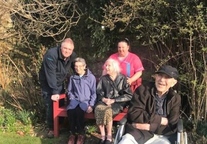 Clarence Court Care Home residents step into spring at Greenbank Garden