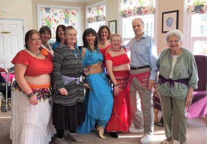 Belly dancing at Ross Court Care Home