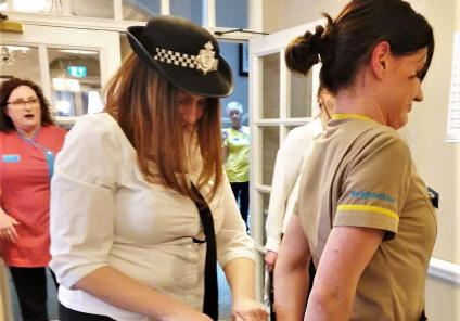 The Granby Care Home in Harrogate were tasked with investigating 'who stole the cake' with many team members as prime suspects! Anna, head of housekeeping is convicted and arrested Detective Sort It AKA CHAP Sarah