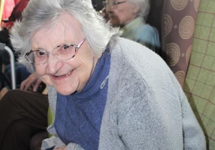 Ashbourne Court Care Home, Hampshire-Pamela's smile lit up the whole home on Valentine's Day!