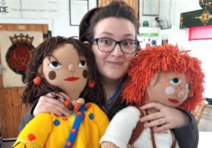 Avery Mews Care Home, West Yorkshire-Magic Moments Club Assistant Chrissy meets her childhood heroes Rosie and Jim