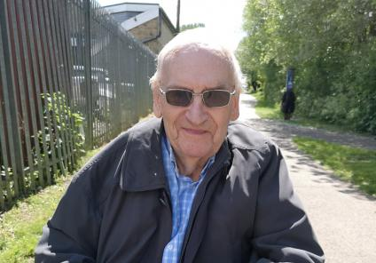 Avery Mews Care Home, West Yorkshire-Resident Brian had a drink at the halfway point