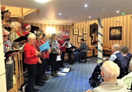 Brampton View Care Home, Northampton. On 18th December our residents were treated to a carol performance by the wonderful Elation Community Choir