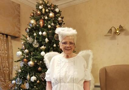 Broadway Halls Care Home, Dudley. Our very own Christmas angel - resident Jean