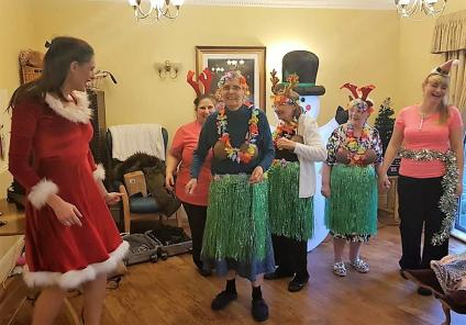 Broadway Halls Care Home, Dudley. Residents loved joining in with the performance by singer Pippa