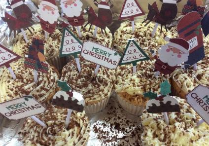 Henleigh Hall Care Home, Sheffield. Delicious cupcakes on offer at our Christmas market