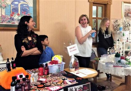 Henleigh Hall Care Home, Sheffield. Stallholders at the Christmas market we held in our home