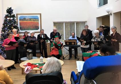 Highlands Care Home, Jersey. Our residents enjoyed a performance of carols by Trinity Church Choir
