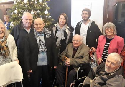 La Haule Care Home in Jersey. Residents and family members enjoyed a trip to Jersey Opera House to see a performance of Robinson Crusoe.