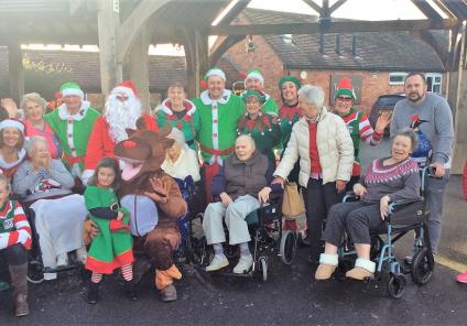 Tewkesbury Fields Care Home, Gloucestershire.  Happy Christmas from all at Tewkesbury Fields and our friends at the Twyning Inn