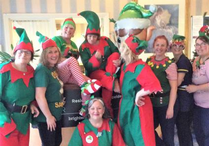 Bamfield Lodge's troupe of cheeky elves raise money for the cause!