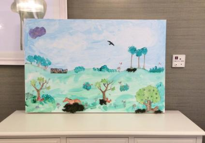 Artwork at The Cedars Care Home in Salisbury